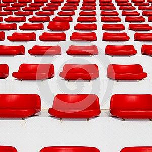 Row Of Empty Red Stadium Royalty Free Stock Photos - Image: 25986468