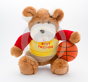 Teddy And Basketball Ball Royalty Free Stock Images - Image: 25987049
