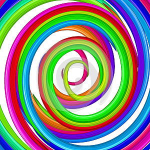 Art Colorful Rainbow Glossy Twirl. Abstract Backgr Stock Images - Image: 25988724