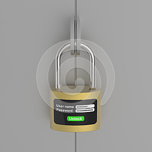 New Generation Of The Lock On Steel Door Royalty Free Stock Photography - Image: 25994977