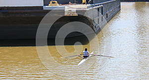A Rower With A Challenge Royalty Free Stock Image - Image: 25996566
