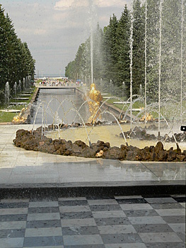 Fountain In Petrodvorets Stock Images