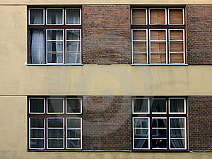 Four Windows Free Stock Image