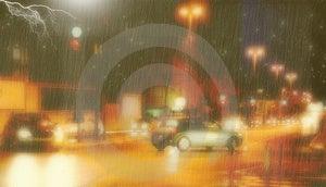Rainy Night Background Stock Photography
