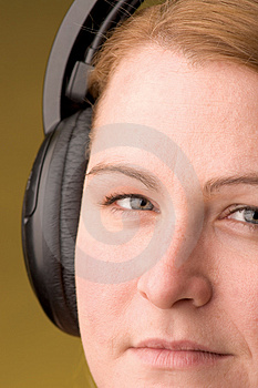 Woman With Headphone Free Stock Image