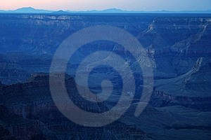 Blue Dawn Grand Canyon Stock Photography