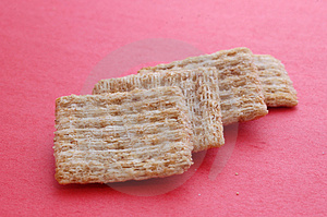 Crackers On Red Stock Photography