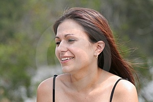 Pretty Woman In Park Ii Stock Image