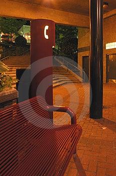 Public Phone At Night Stock Photos