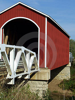 Covered Bridge Free Stock Photography