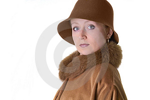 Lady In Hat Free Stock Photography