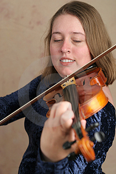 Prettyl Violinist Stock Photography