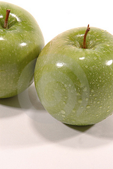 Granny Smith Twice Stock Images
