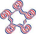 RedAndBlueStar Stock Photo