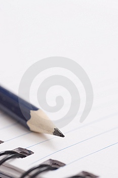 Pencil on notebook Royalty Free Stock Image