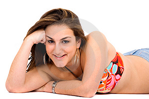 Bikinig Girl Portrait Royalty Free Stock Images - Image: 2601799