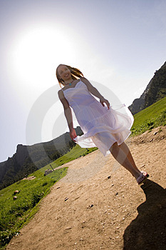 Beautiful Model Walking Stock Photos - Image: 2606273