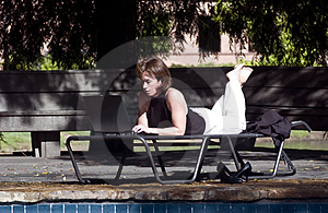 Working Pool Side. Stock Images - Image: 2606344