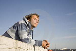 Man Outdoors Relaxing Royalty Free Stock Images - Image: 2607319