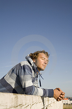 Man Outdoors Relaxing Stock Photo - Image: 2607320