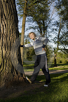 Man Outdoors Stretching Stock Images - Image: 2607424