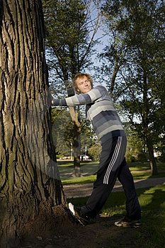 Man Outdoors Stretching Stock Photography - Image: 2607442