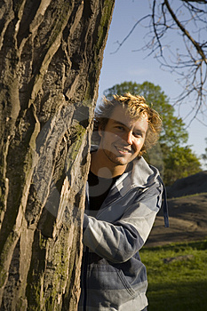 Man Outdoors Relaxing Stock Image - Image: 2607491