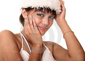 Beautiful Brunette Wearing Chr Royalty Free Stock Photo - Image: 2608765
