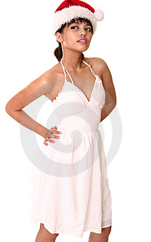 Beautiful Brunette Wearing Tan Royalty Free Stock Photo - Image: 2608785