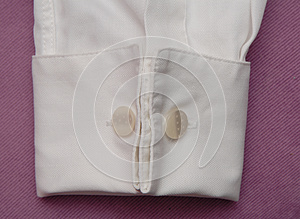White Cuff With Cuff Link. Royalty Free Stock Photos - Image: 26002468