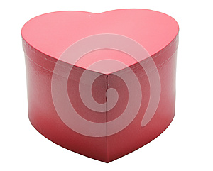 Red Heart Box In White Background Stock Photo - Image: 26003840