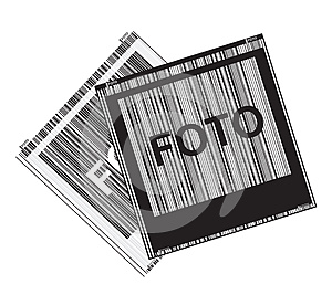 Black And White Vector With Polaroid Photos Royalty Free Stock Photo - Image: 26005855