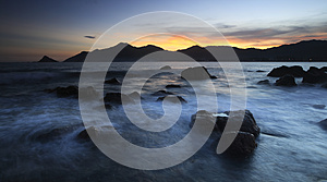 Sunset Seaside View Stock Photography - Image: 26008292