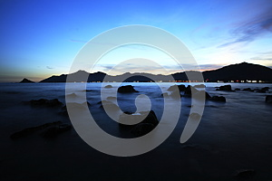Peaceful Seaside View At Sunset Stock Photo - Image: 26008300