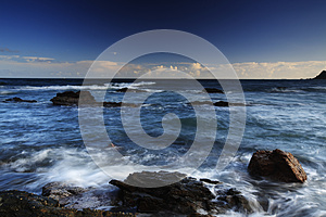Cloudy seaside view stock image. Image of landscape, ocean - 26008337