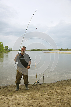 Fisherman On The River Royalty Free Stock Photo - Image: 26008685
