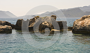 Ruins In The Sea Stock Images - Image: 26010044