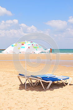 Mediterranean Sandy Sea Beach Stock Images - Image: 26012234