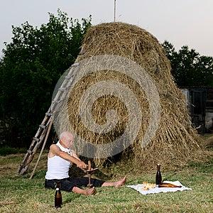 Sharpen The Sickle After Harvest. Stock Images - Image: 26019254