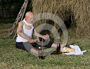 Sharpen The Sickle After Harvest. Royalty Free Stock Images - Image: 26019309