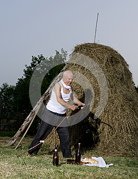 Sharpen The Sickle After Harvest. Royalty Free Stock Photography - Image: 26019367