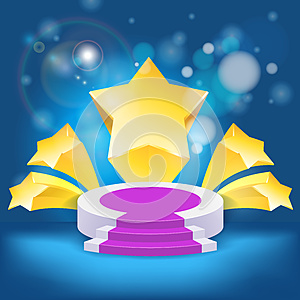 Honour Succeed Podium  Rostrum Royalty Free Stock Photography - Image: 26022007