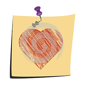 Sticky Note Love You Royalty Free Stock Image - Image: 26032266