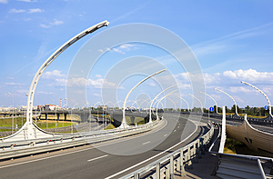 Junction Of Highways Stock Photos - Image: 26033893