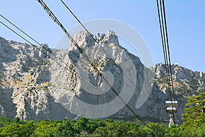 Cable Car To The Mountain Royalty Free Stock Photo - Image: 26034725