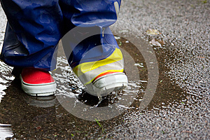 Gumboots And A Puddle Stock Images - Image: 26037914