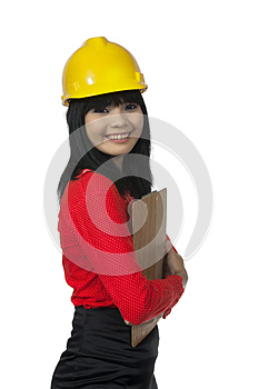 Young Architect Hold Clipboard Stock Images - Image: 26039224