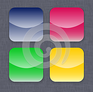 Glossy Colorful App Icon Templates Stock Photo - Image: 26046850
