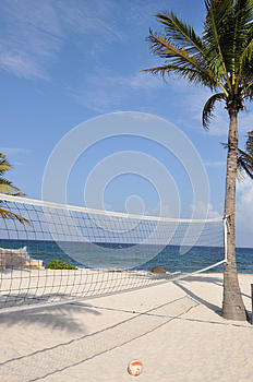 Beach Volleyball Royalty Free Stock Images - Image: 26055999