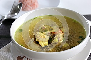 Chicken Clear Soup Stock Images - Image: 26057024